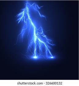 Lightning vector background. Eps10.