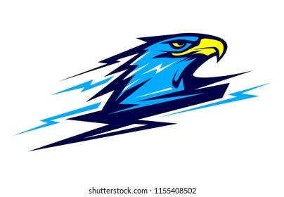 lightning vector eagle head mascot