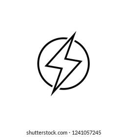 lightning vector icon on white background