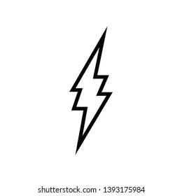 Lightning vector icon, thunder bolt