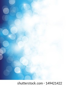 Lights On Blue Background - Vector Illustration, Graphic Design Useful For Your Design. Bright Blue Abstract Summer Background