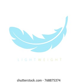 Lightweight feather vector icon isolated on white background