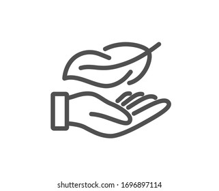 Lightweight line icon. Feather quill sign. Light nib symbol. Quality design element. Editable stroke. Linear style lightweight icon. Vector