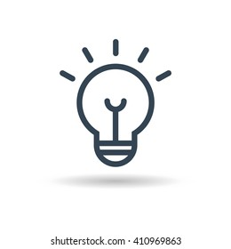Ligth Lamp icon vector. Vector illustration eps10.