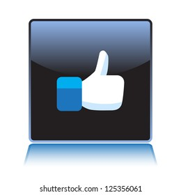 Like button thumb up - illustration