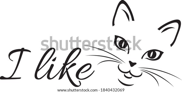 like-cats-funny-design-vector-600w-18404