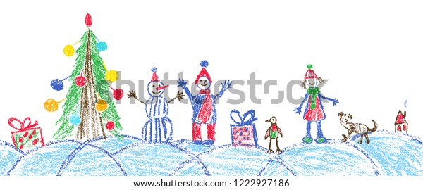 like child hand drawing christmas space stock vector royalty free 1222927186 https www shutterstock com image vector like child hand drawing christmas space 1222927186