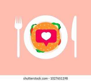 Like as a criterion of popularity in social networks, vector concept, as a food for blogger