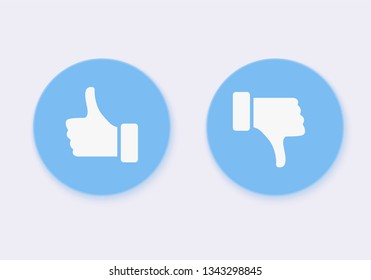 Like and Dislike. Design Elements for Marketing, Business, Advertisement, Social Network. Vector Flat Icons on White Background