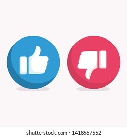Like and Dislike icon symbol vector