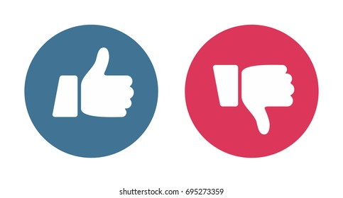 Like and Dislike Icons - illustration vector