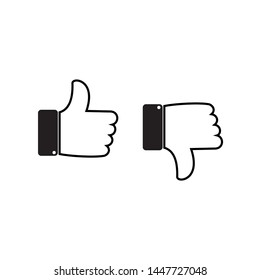 Like and dislike icons set, Thumbs up and thumbs down icon Vector illustration. symbol for web site Computer and mobile vector.