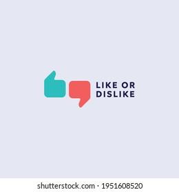 Like Or Dislike logo mark