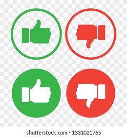 Like and Dislike Vector. Thumb up symbol, finger up icon. like and dislike sign