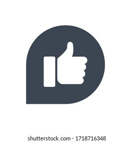 Like feedback icon vector graphic.