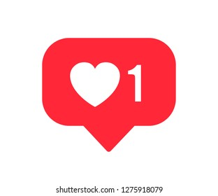 Like icon with heart - stock vector