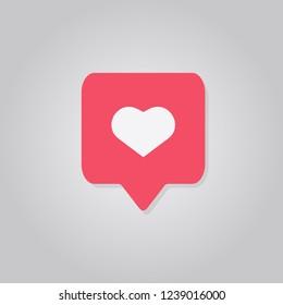 like icon heart vector illustration flat