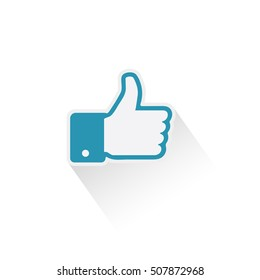Like icon. Thumb up, thumb down applique vector illustration