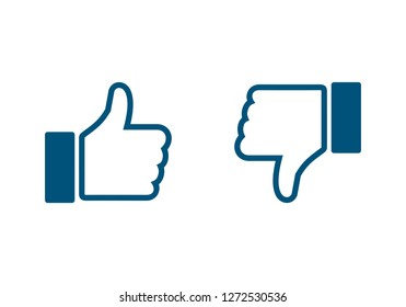 like icon. Thumbs up icon. social media icon. Like and dislike icon. Thumbs up and thumbs down.
