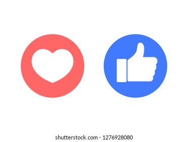 like icon. Thumbs up icon. social media icon