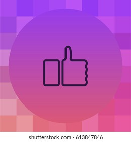 Like icon. Thumbs up vector