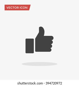 Like Icon in trendy flat style isolated on grey background. Like symbol for your web site design, logo, app, UI. Vector illustration, EPS10.