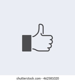 Like Icon in trendy flat style isolated on grey background. Like symbol for your web site design, logo, app. Vector illustration