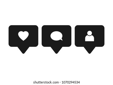 icon like comment instagram images stock photos vectors shutterstock https www shutterstock com image vector like icon vector comment follower social 1070294534