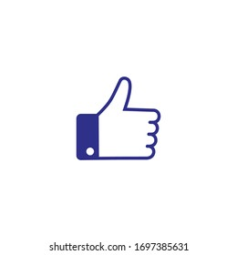 Like icon vector. hand like, hand thumb up icon