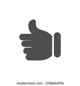 Like icon vector. hand like, hand thumb up icon