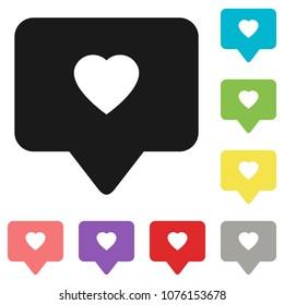 Like icon vector. Social media like vector icon. Instagram like notification. Notification Icon. Heart.