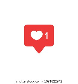 Like icon vector. Social media. Instagram like notification. Like notification icon. Heart symbol.
