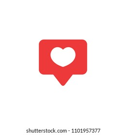 Like icon vector. Social media like vector icon. Instagram like notification. Notification Icon. Heart.