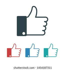 like icon vector. Thumbs up icon.