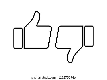 like icon vector. Thumbs up icon. social media icon. Like and dislike icon. Thumbs up and thumbs down