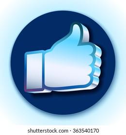 Like symbol on blue background