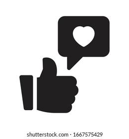 like vector glyph flat icon