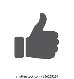Like. Vector thumbs up icon used on social media.