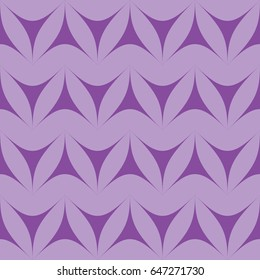 Lilac geometric triangulars background. Curvilinear triangles. A symmetrical pattern. A seamless texture. Seamless geometric lilac background.