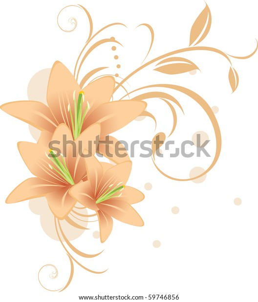 lilies-decorative-ornament-vector-600w-5