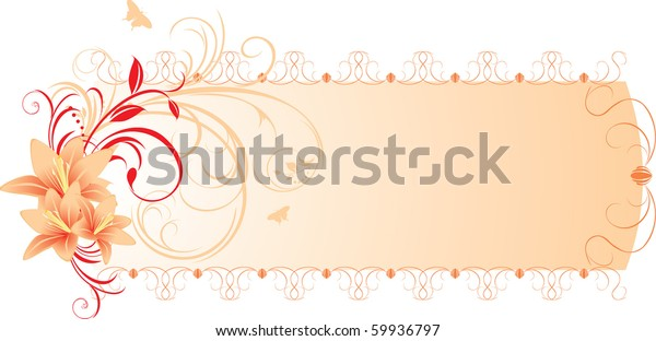lilies-floral-ornament-banner-vector-600