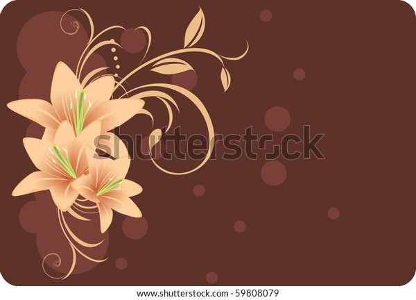 lilies-ornament-decorative-card-vector-6