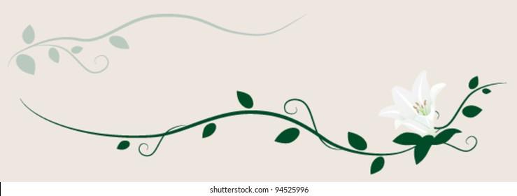 Lily decorative ornament