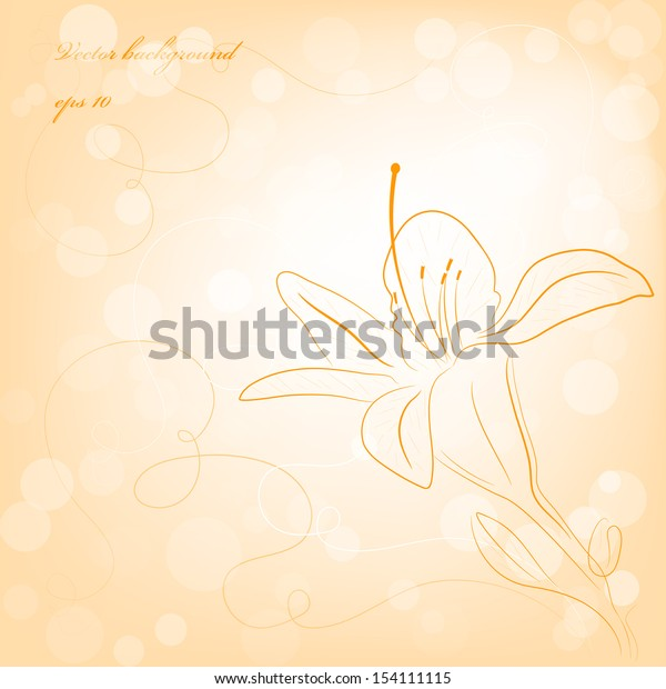 Lily flower background. Vector. eps 10