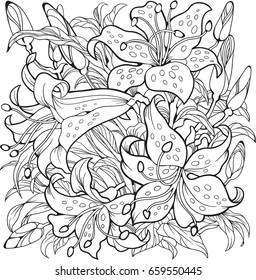 Flowers Coloring Book Hd Stock Images Shutterstock