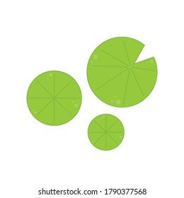 Lily pad. Lotus leaf vector. Lotus leaf logo design.