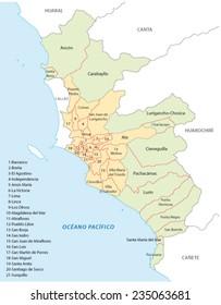 lima administrative map