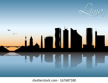 Lima skyline - vector illustration