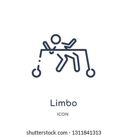 limbo icon from people outline collection. Thin line limbo icon isolated on white background.