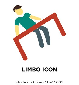 Limbo icon vector isolated on white background, Limbo transparent sign